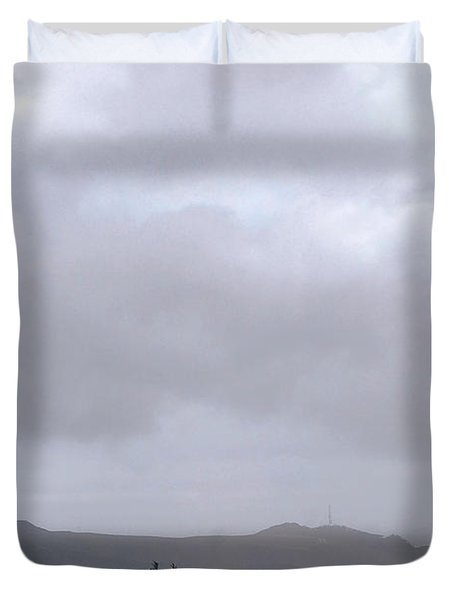 Duvet Cover featuring the photograph Minotaur Iv Lite Launch by Science Source