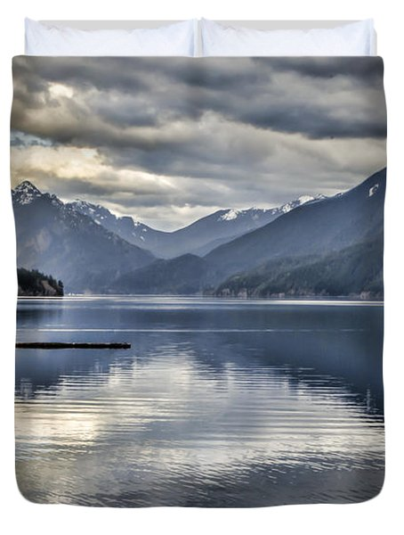 Mirror Image Duvet Cover by Heather Applegate