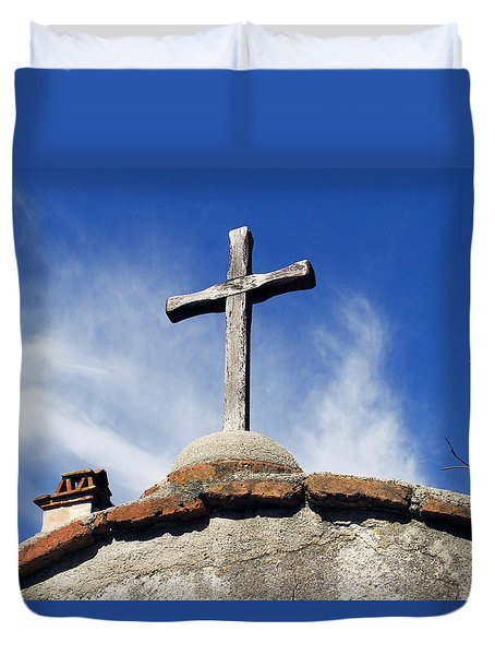 Mission Cross Duvet Cover by Shoal Hollingsworth