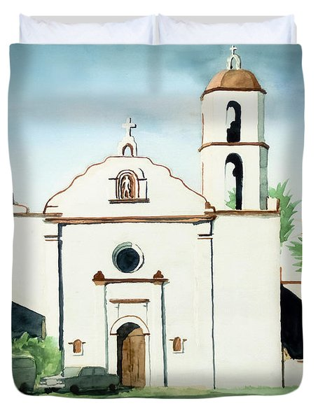 Mission San Luis Rey Colorful II Duvet Cover by Kip DeVore