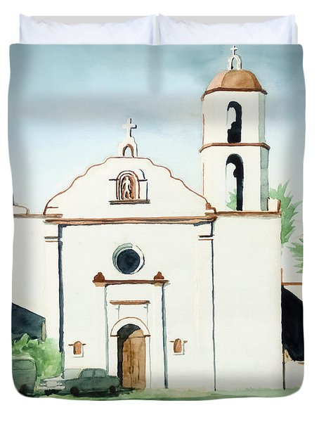 Mission San Luis Rey  Duvet Cover by Kip DeVore