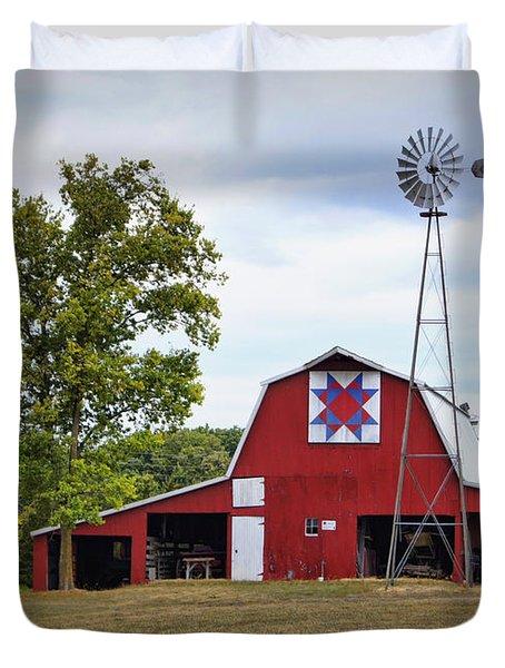 Missouri Star Quilt Barn Duvet Cover by Cricket Hackmann