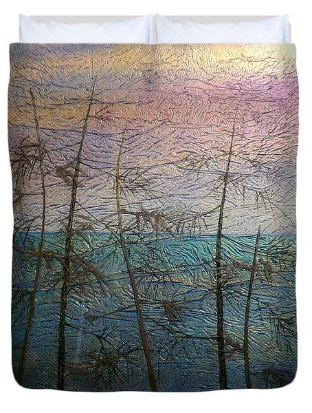 Mist Fantasy Duvet Cover by Rick Silas