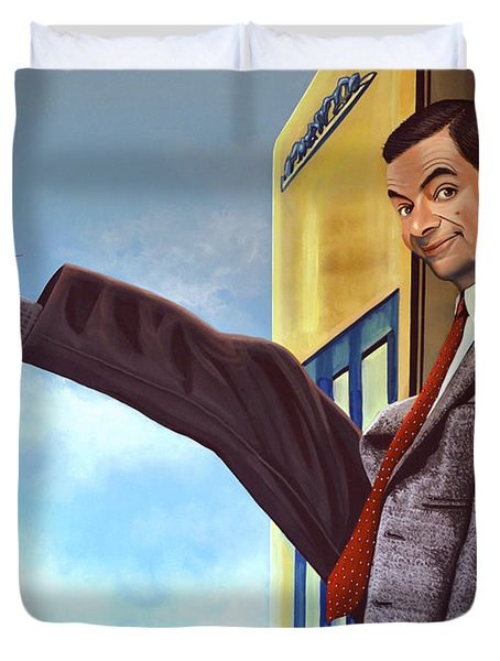 Mister Bean Duvet Cover by Paul  Meijering