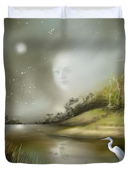 Mistress Of The Glade Duvet Cover by Susi Galloway