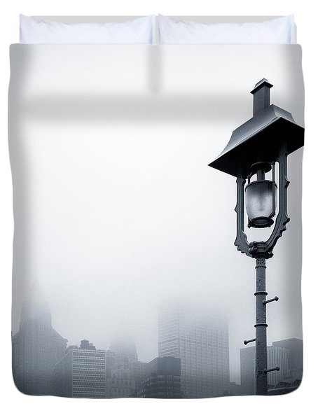 Misty City Duvet Cover by Dave Bowman