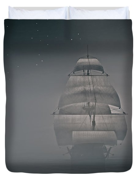 Misty Sail Duvet Cover by Lourry Legarde