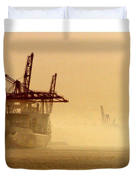 Misty Seattle Waterfront Duvet Cover by Jack Pumphrey