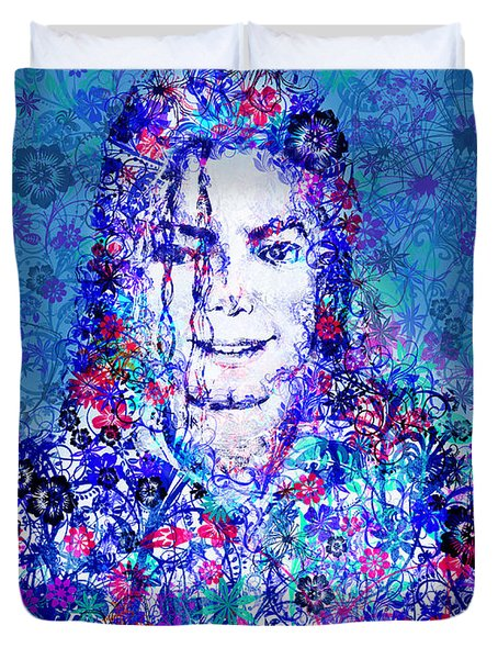 Mj Floral Version 2 Duvet Cover by Bekim Art