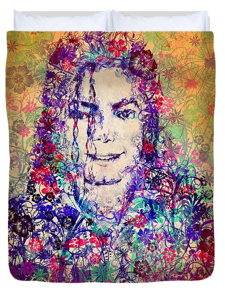 Mj Floral Version 3 Duvet Cover by Bekim Art