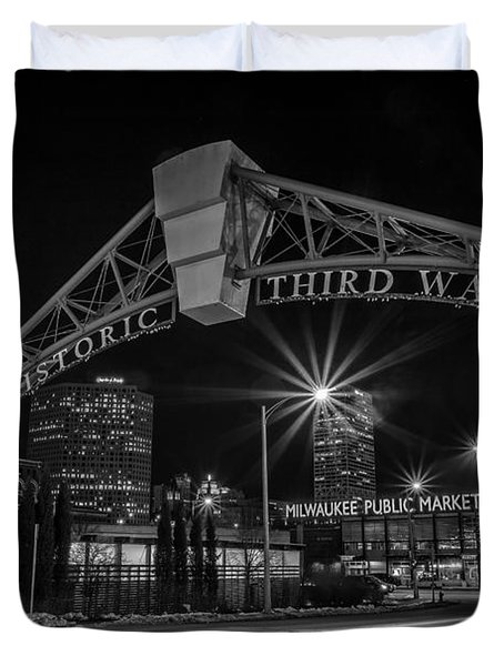 Mke Third Ward Duvet Cover by CJ Schmit