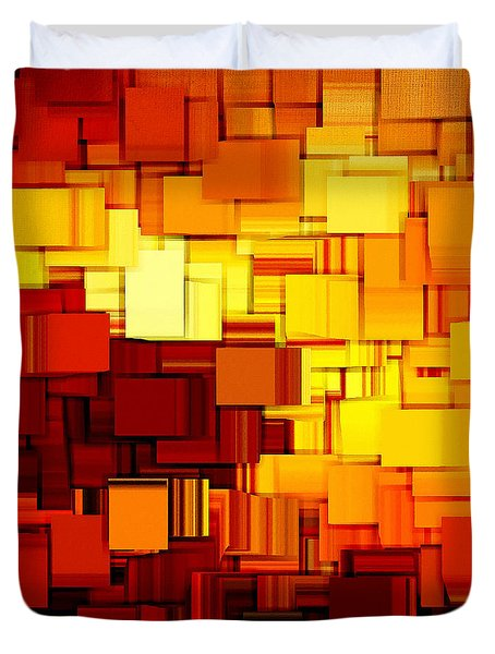 Modern Abstract Xi Duvet Cover by Lourry Legarde