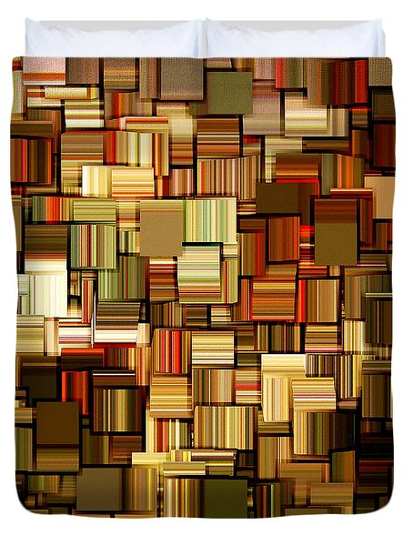 Modern Abstract Xxiii Duvet Cover by Lourry Legarde