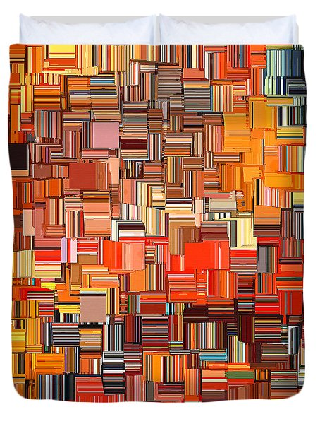Modern Abstract Xxxi Duvet Cover by Lourry Legarde