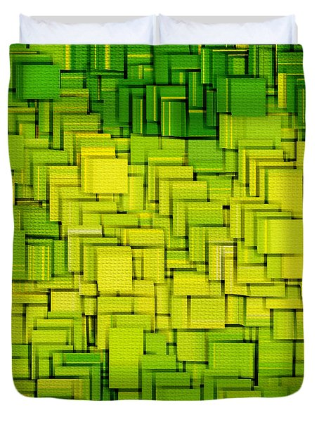 Modern Abstract XXXIII Duvet Cover by Lourry Legarde
