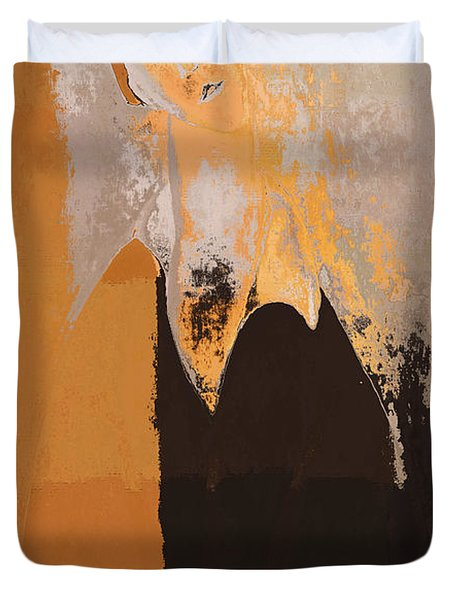 Modern From Classic Art Portrait - 01 Duvet Cover by Variance Collections
