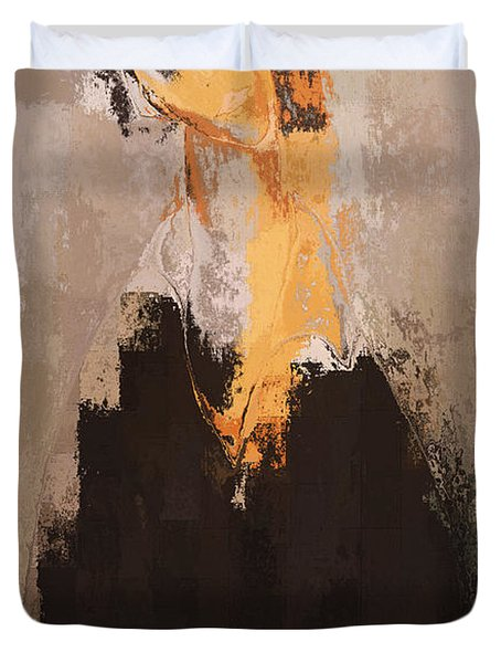 Modern From Classic Art Portrait - 088a Duvet Cover by Variance Collections