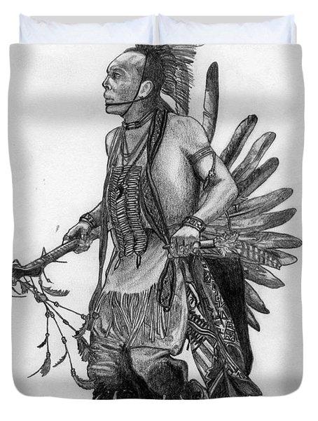 Mohawk Dancer Duvet Cover by Lew Davis