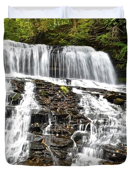 Mohawk Falls Duvet Cover by Frozen in Time Fine Art Photography