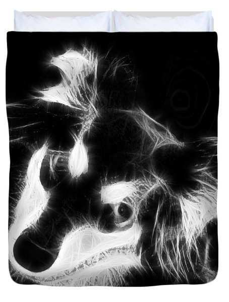 Moja - Black And White Duvet Cover by Marlene Watson