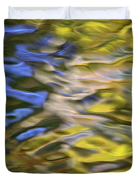 Mojave Gold Mosaic Abstract Art Duvet Cover by Christina Rollo