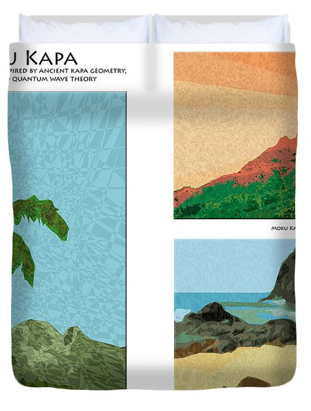 Moku Kapa Poster Duvet Cover by Kenneth Grzesik