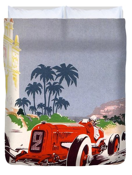 Monaco Grand Prix 1934 Duvet Cover by Nomad Art And  Design