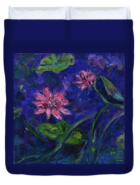 Monet's Lily Pond II Duvet Cover by Xueling Zou