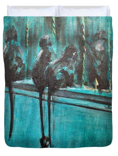 Monkey Swing Duvet Cover by Usha Shantharam