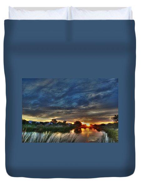 Monsoon Sunset Duvet Cover by Tam Ryan