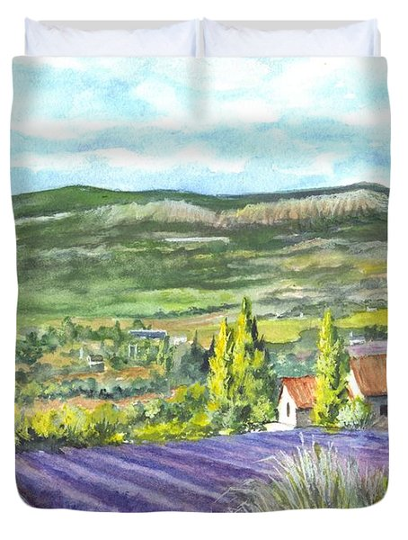 Montagne De Lure In Provence France Duvet Cover by Carol Wisniewski