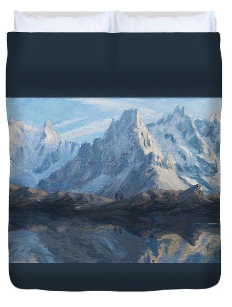 Montain Mirror Duvet Cover by Marco Busoni