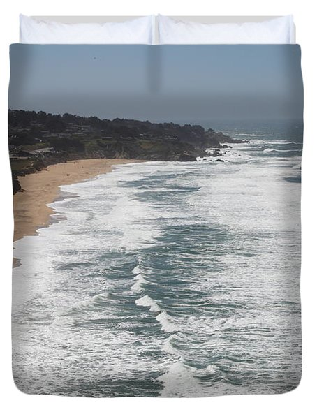 Montara State Beach Pacific Coast Highway California 5d22622 Duvet Cover by Wingsdomain Art and Photography