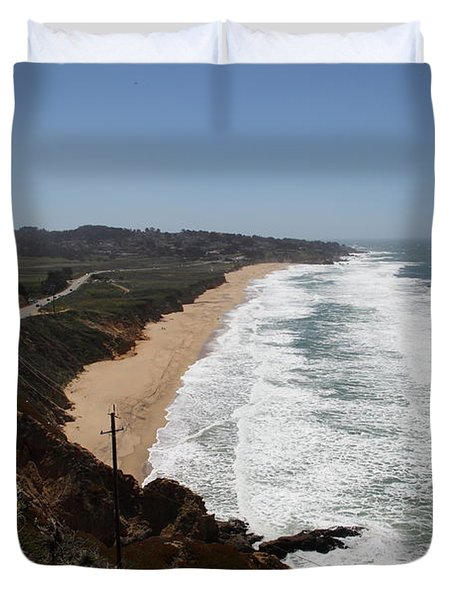 Montara State Beach Pacific Coast Highway California 5d22624 Duvet Cover by Wingsdomain Art and Photography