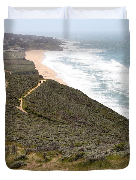 Montara State Beach Pacific Coast Highway California 5d22632 Duvet Cover by Wingsdomain Art and Photography
