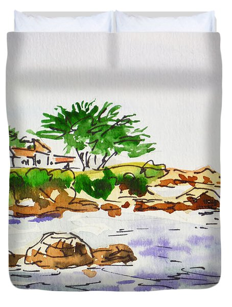 Monterey- California Sketchbook Project Duvet Cover by Irina Sztukowski