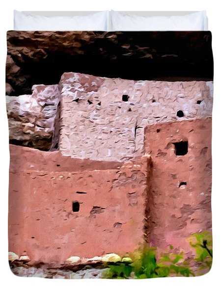 Montezuma Castle  Duvet Cover by Bob and Nadine Johnston