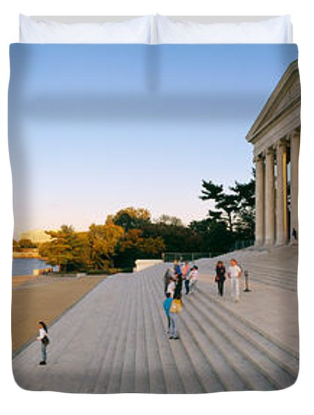 Monument At The Riverside, Jefferson Duvet Cover by Panoramic Images