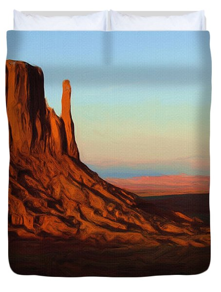 Monument Valley 2 Duvet Cover by Ayse Deniz