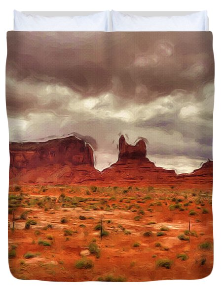 Monument Valley Duvet Cover by Ayse Deniz