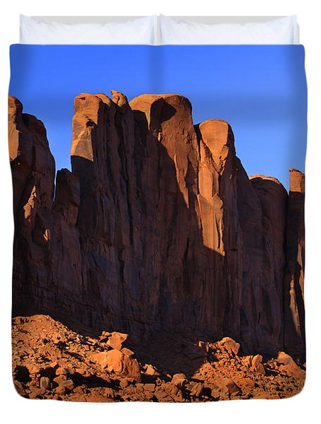 Monument Valley - Camel Butte Duvet Cover by Mike McGlothlen