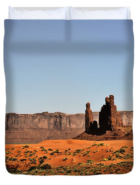 Monument Valley - Icon Of The West Duvet Cover by Christine Till