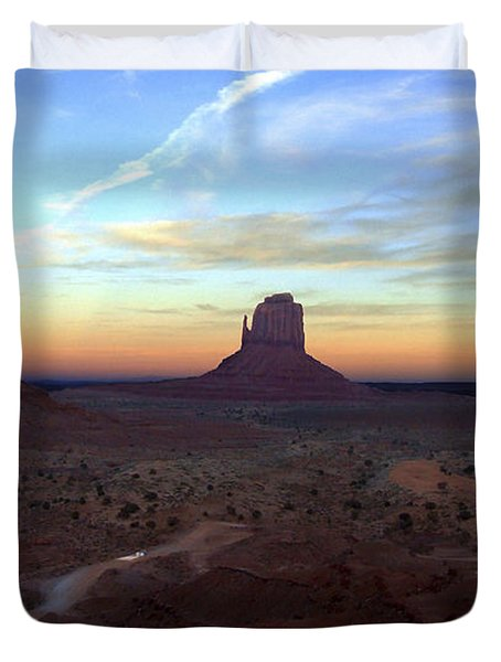 Monument Valley Just After Sunset Duvet Cover by Mike McGlothlen