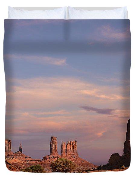 Monument Valley - Mars-like Terrain Duvet Cover by Christine Till