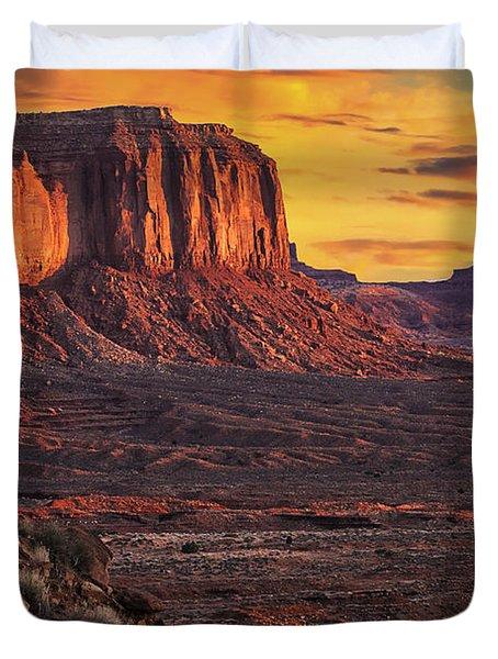 Monument Valley Sunrise Duvet Cover by Priscilla Burgers