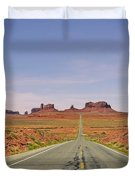Monument Valley - The Classic View Duvet Cover by Christine Till