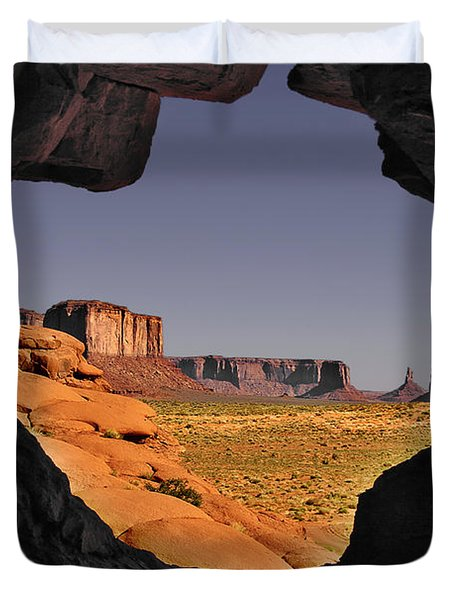 Monument Valley - The Untamed West Duvet Cover by Christine Till
