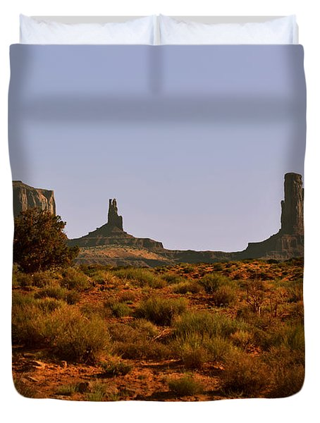 Monument Valley - Unusual Landscape Duvet Cover by Christine Till