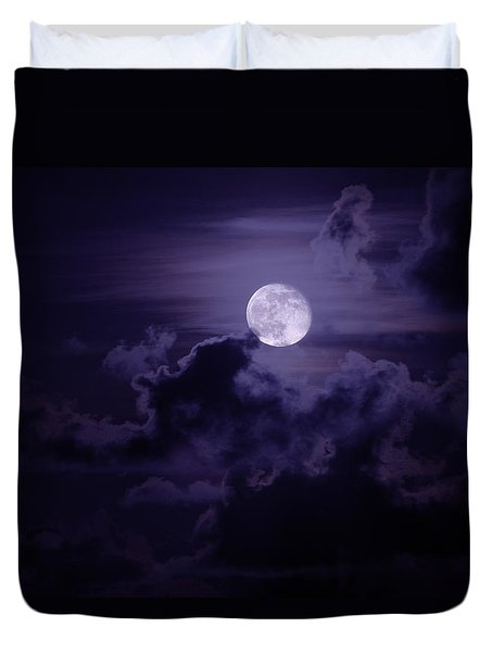 Moody Moon Duvet Cover by Chad Dutson