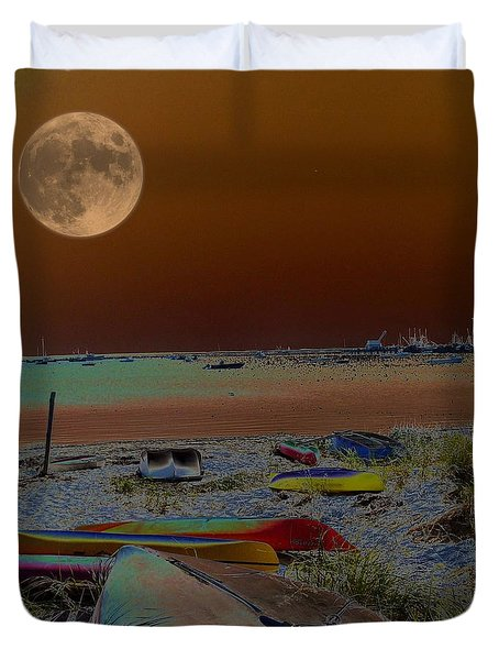 Moon Dreams Duvet Cover by Robert McCubbin